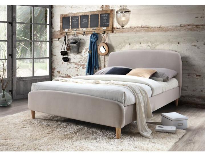 Manželská postel 180 cm - Tempo Kondela - Rupa (s roštem) (béžová + buk)