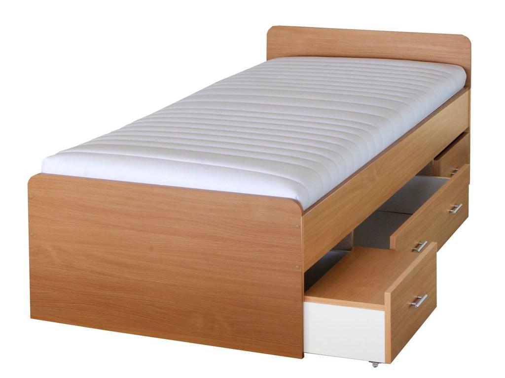 Jednolůžková postel 90 cm - Tempo Kondela - Duet 80262 buk -22