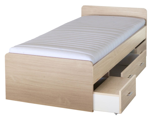Jednolůžková postel 90 cm - Tempo Kondela - Duet 80262 javor - 23