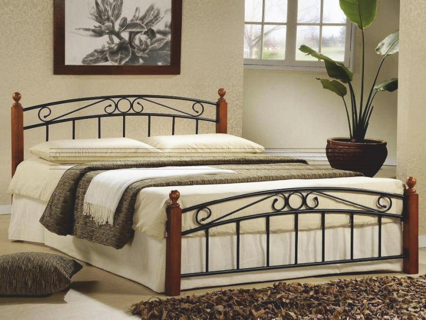 Manželská postel 180 cm - Tempo Kondela - Dolores (s roštem)