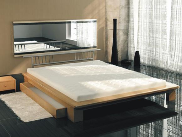Manželská postel 160 cm - Tempo Kondela - Kapitol 2 (s roštem a matrací)
