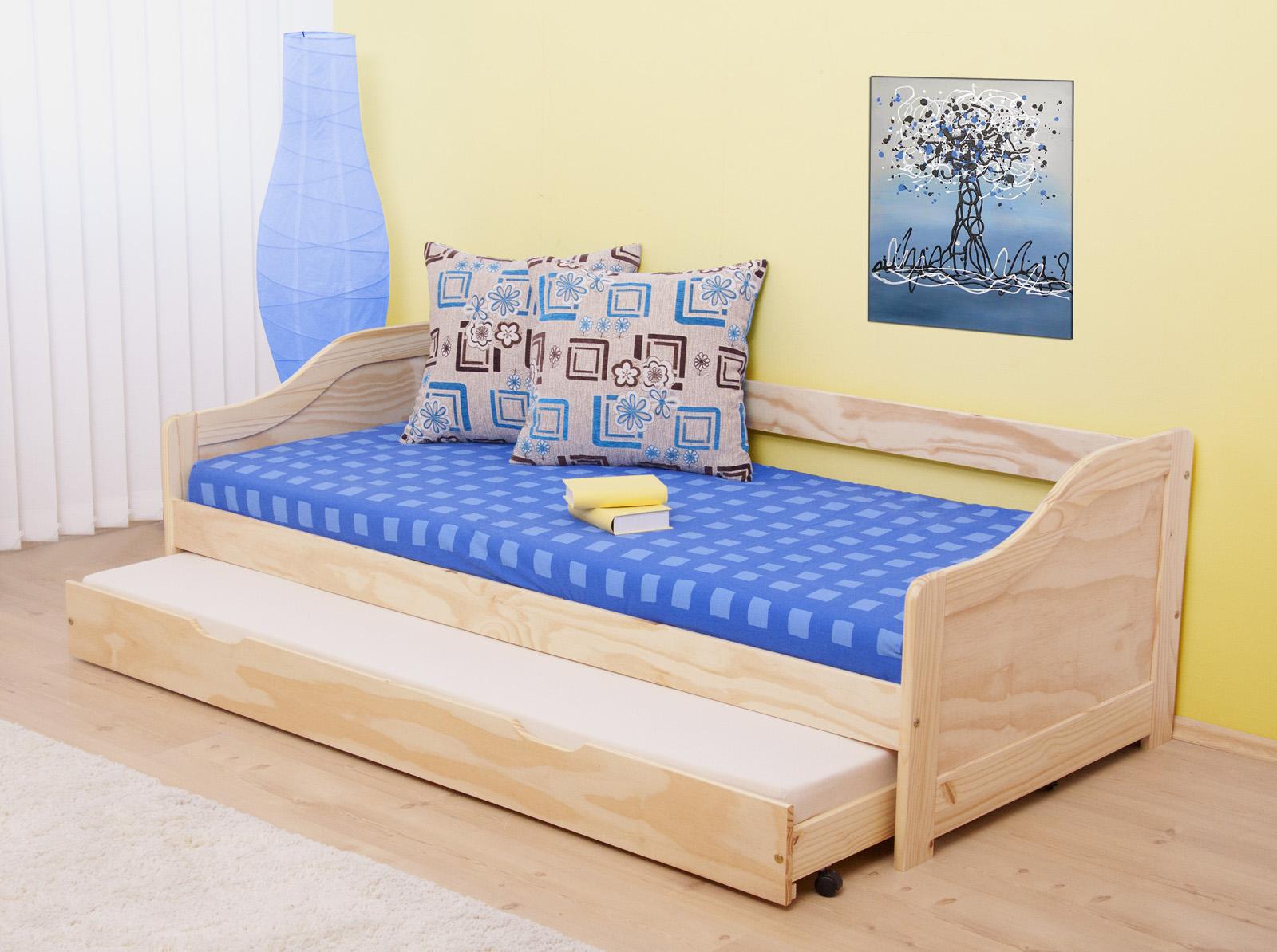 Rozkládací postel 90 cm - Tempo Kondela - Laura (masiv, se dvěma rošty)
