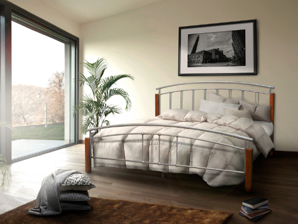 Manželská postel 140 cm - Tempo Kondela - Mirela (s roštem)