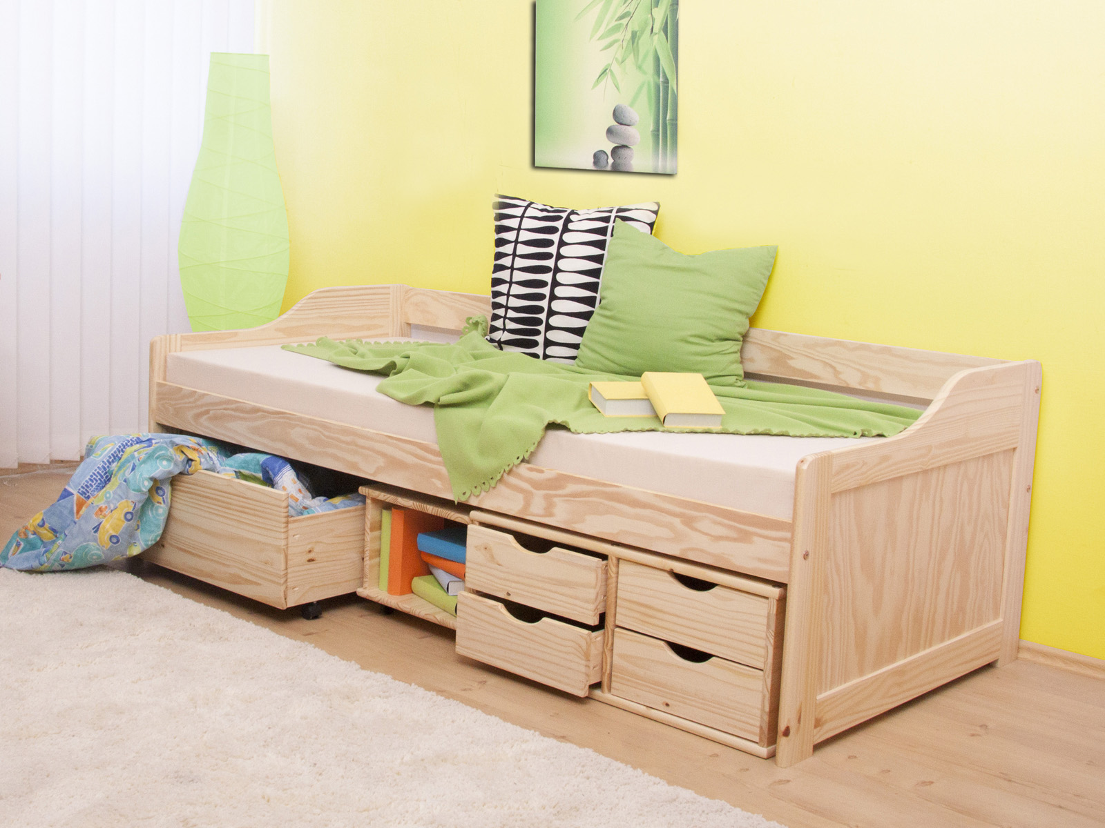 Jednolůžková postel 90 cm - Tempo Kondela - Maxi (masiv, s roštem)