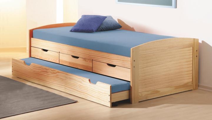 Rozkládací postel 90 cm - Tempo Kondela - Marinella (s roštem) (masiv)