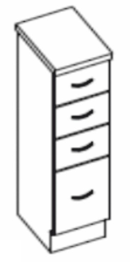Dolní kuchyňská skříňka - Tempo Kondela - Prado - 40 D 4S ZB