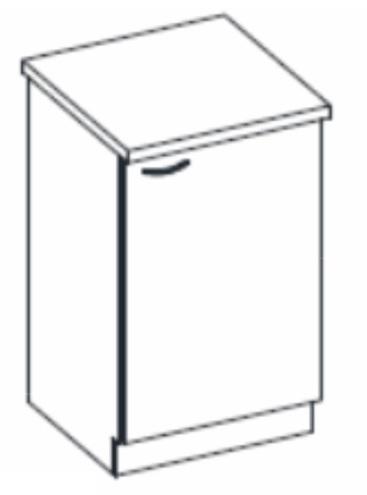 Dolní kuchyňská skříňka - Tempo Kondela - Prado - 60 D 1F ZB