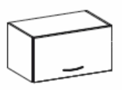 Horní kuchyňská skříňka nad digestoř - Tempo Kondela - Prado - 60 OK 40