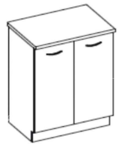 Dolní kuchyňská skříňka - Tempo Kondela - Prado - 80 D 2F ZB