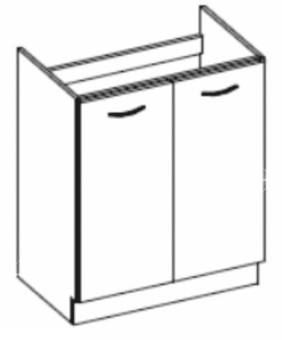 Dolní kuchyňská skříňka pod dřez - Tempo Kondela - Prado - 80 ZL 2F BB