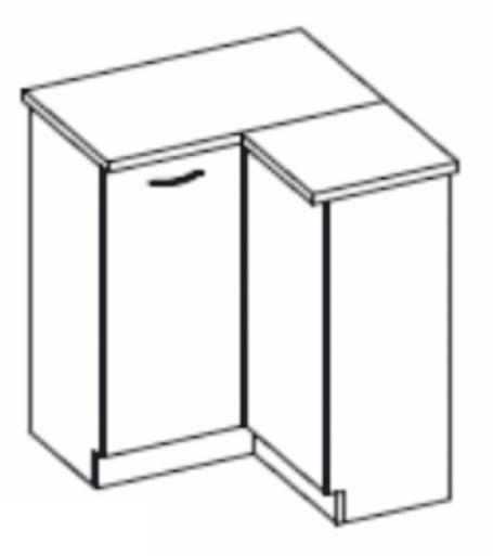 Dolní kuchyňská skříňka, rohová - Tempo Kondela - Prado - 90/90 DN ZB