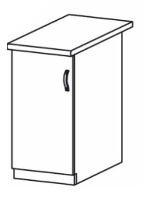 Dolní kuchyňská skříňka - Tempo Kondela - Royal - D40
