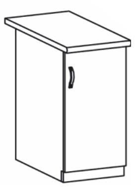 Dolní kuchyňská skříňka - Tempo Kondela - Royal D40/P sosna nordická /dub divoký (P)