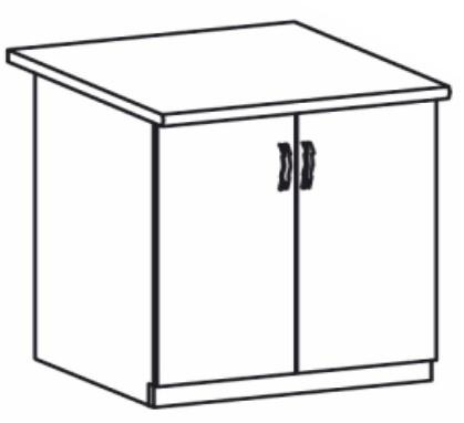 Dolní kuchyňská skříňka - Tempo Kondela - Royal - D80