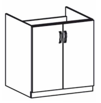 Dolní kuchyňská skříňka pod dřez - Tempo Kondela - Royal - D80Z