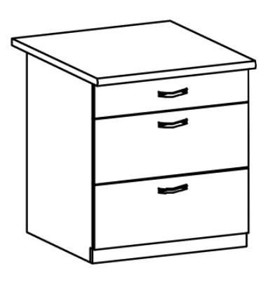 Dolní kuchyňská skříňka - Tempo Kondela - Royal - D80S3