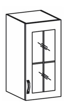 Horní kuchyňská skříňka - Tempo Kondela - Royal G40S/P sosna nordická /dub divoký (P)