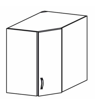 Horní kuchyňská skříňka, rohová - Tempo Kondela - Royal - G60N