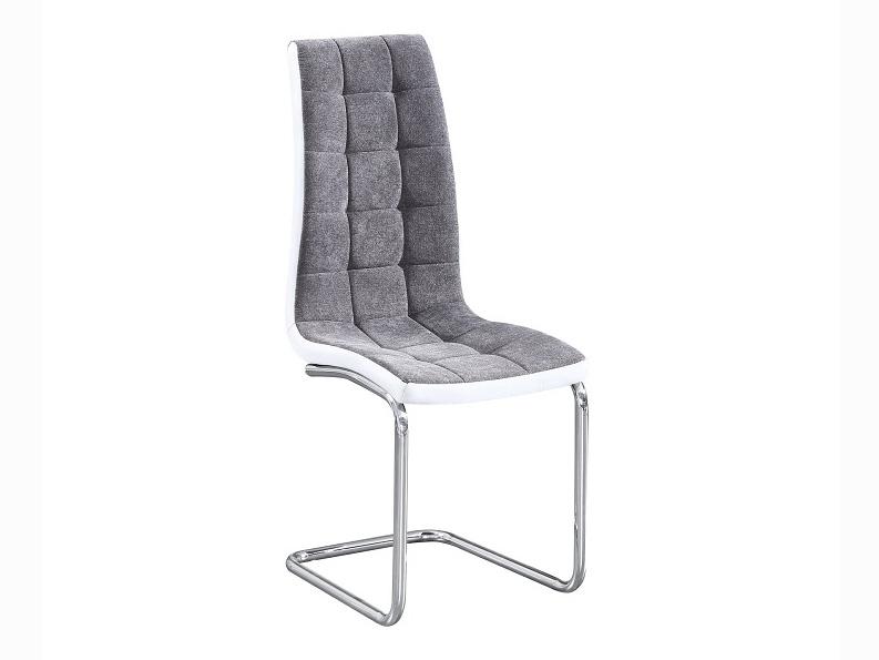 Jídelní židle - Tempo Kondela - Saloma new (tmavě šedá + bílá)