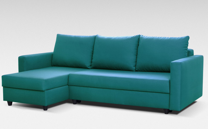 Rohová sedací souprava - Tempo Kondela - Evan - tyrkysová (L)