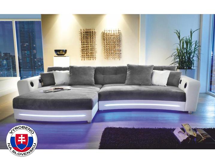 Rohová sedací souprava - Tempo Kondela - Luxlaredo (L) (s audiosystémem a LED)