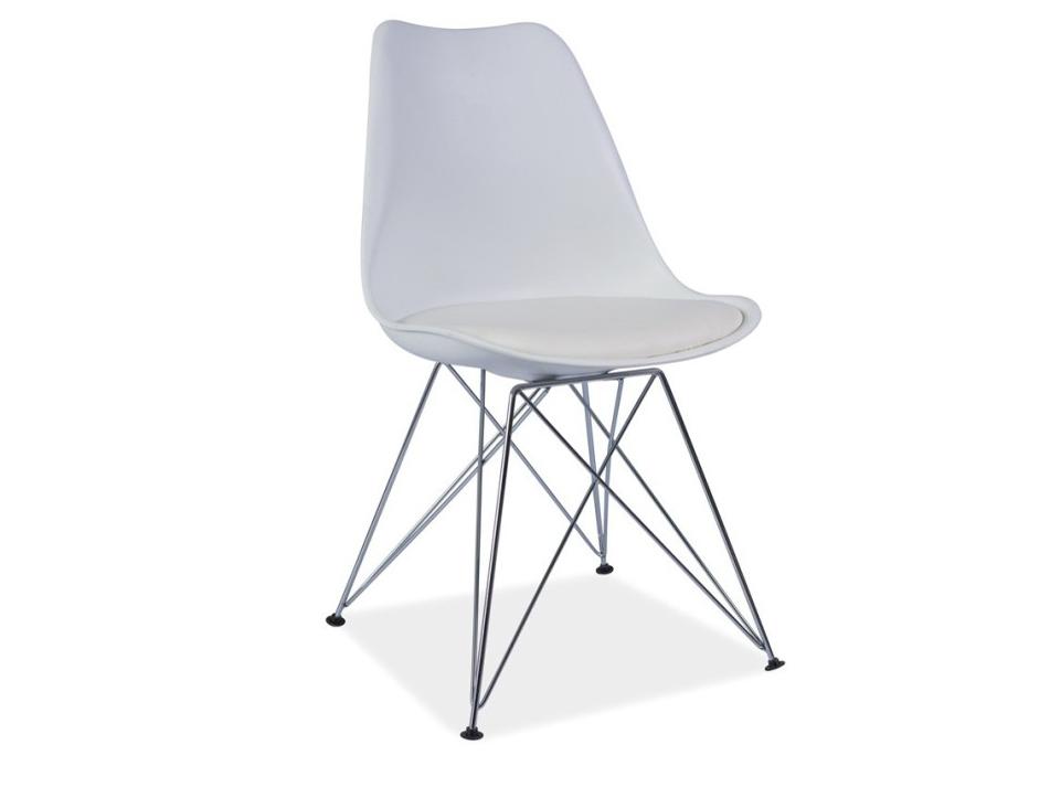 Jídelní židle - Tempo Kondela - Metal (ekokůže bíla)