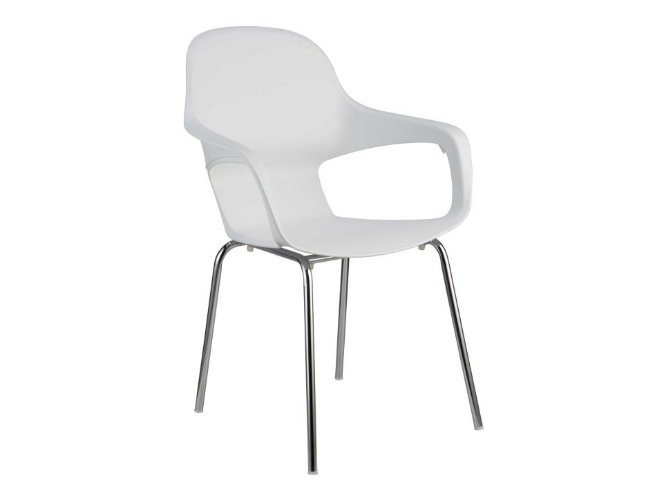 Jídelní židle - Tempo Kondela - Dorien (bílá + chrom)