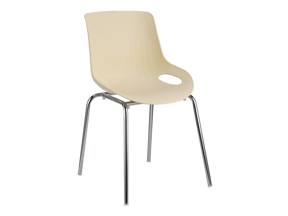 Jídelní židle - Tempo Kondela - Edlin (béžová + chrom)