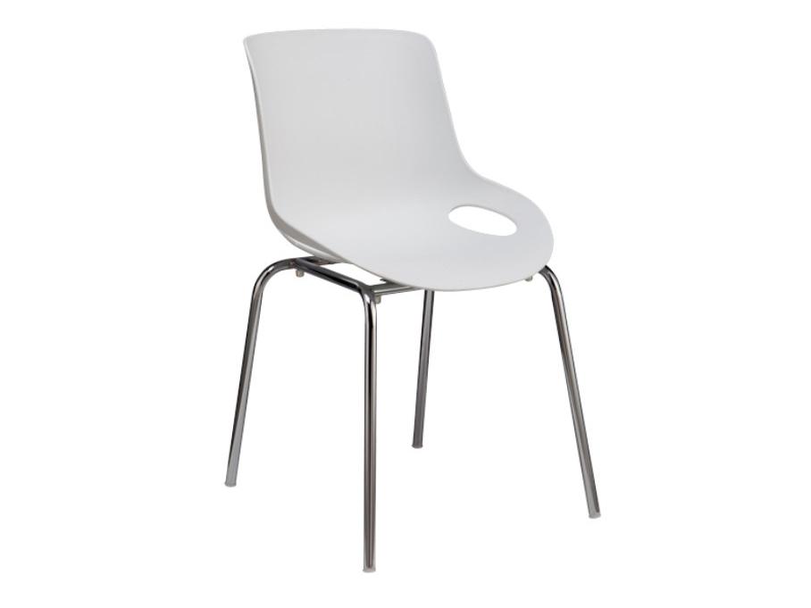 Jídelní židle - Tempo Kondela - Edlin (bílá + chrom)