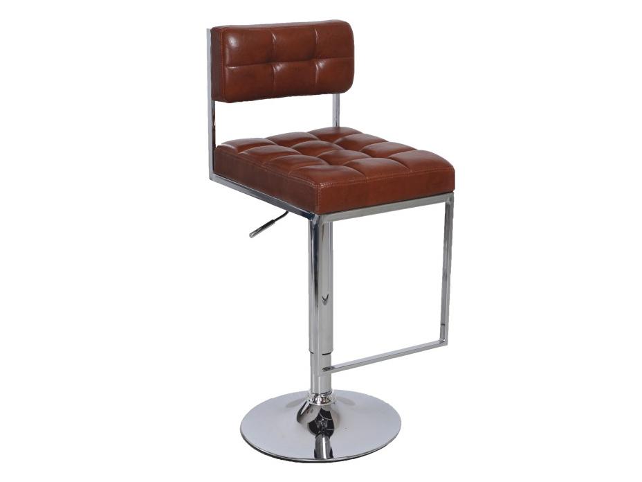 Barová židle - Tempo Kondela - Gordy (hnědá + chrom)