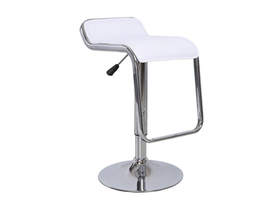 Barová židle - Tempo Kondela - Ilana (bílá + chrom)
