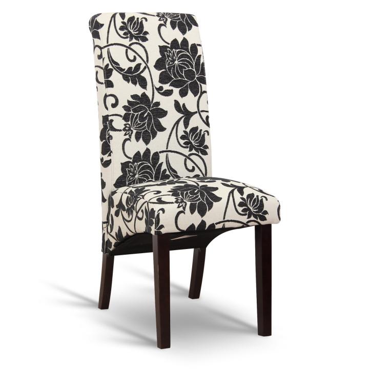 Jídelní židle - Tempo Kondela - Judy P-058 černé květy