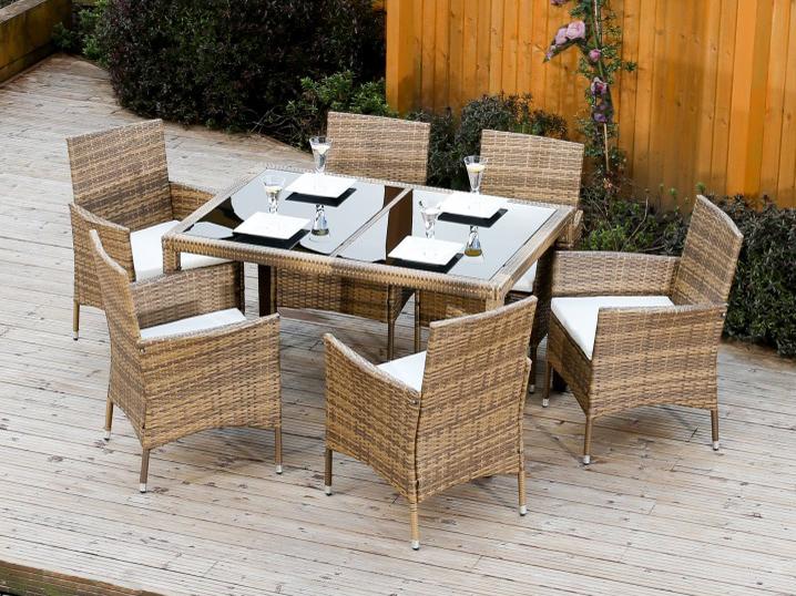Zahradní nábytek - Tempo Kondela - Garden 1+6 (umělý ratan)