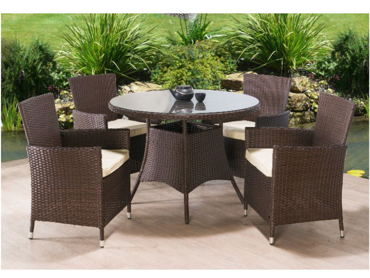 Zahradní nábytek - Tempo Kondela - Randel 1+4 (umělý ratan)