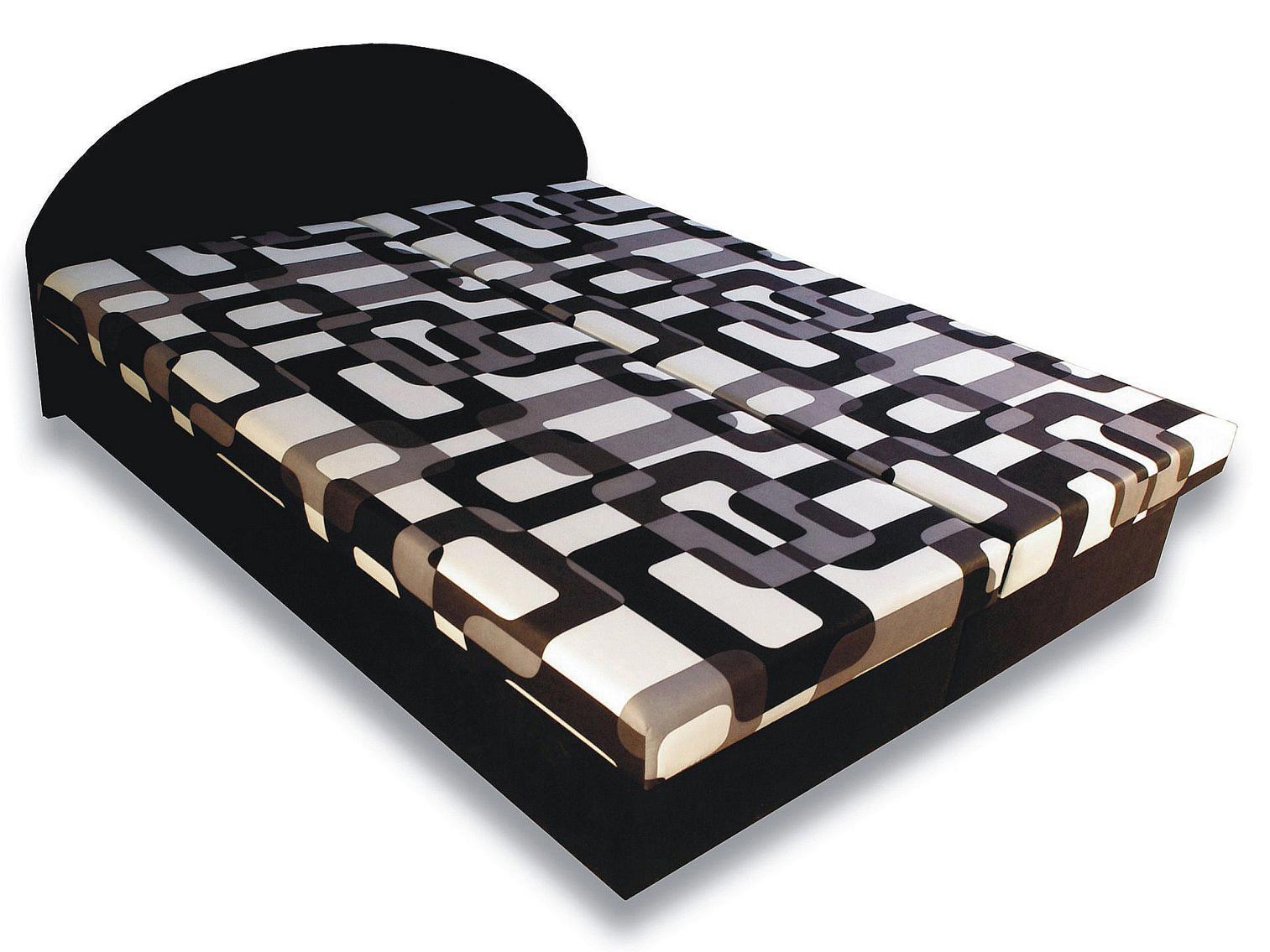 Manželská postel 160 cm - Važo - Elena (s pěnovými matracemi)