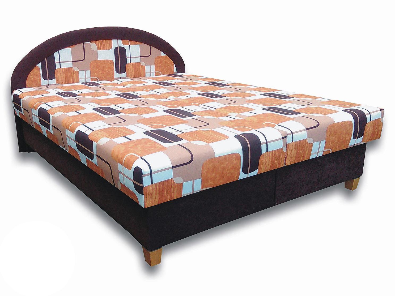 Manželská postel 160 cm - Važo - Elena N (s pěnovými matracemi)