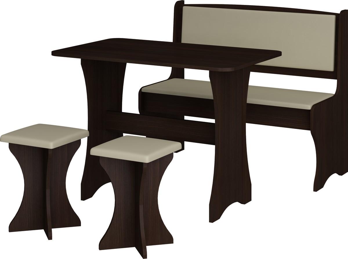 Jídelní set - WIP - wenge + ekokůže (s taburetkami) (pro 4 osoby)