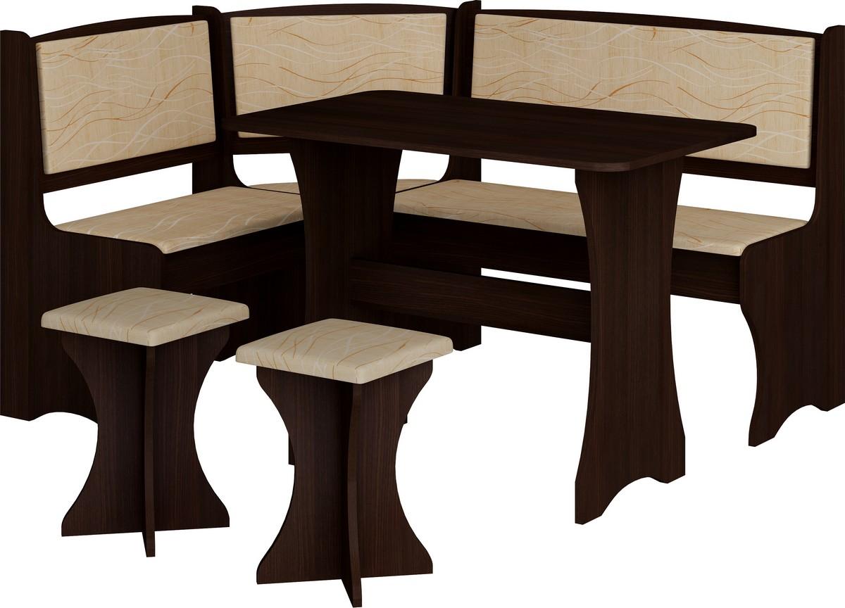 Rohový jídelní set - WIP - wenge + monaco (s taburetkami) (pro 5 osob)