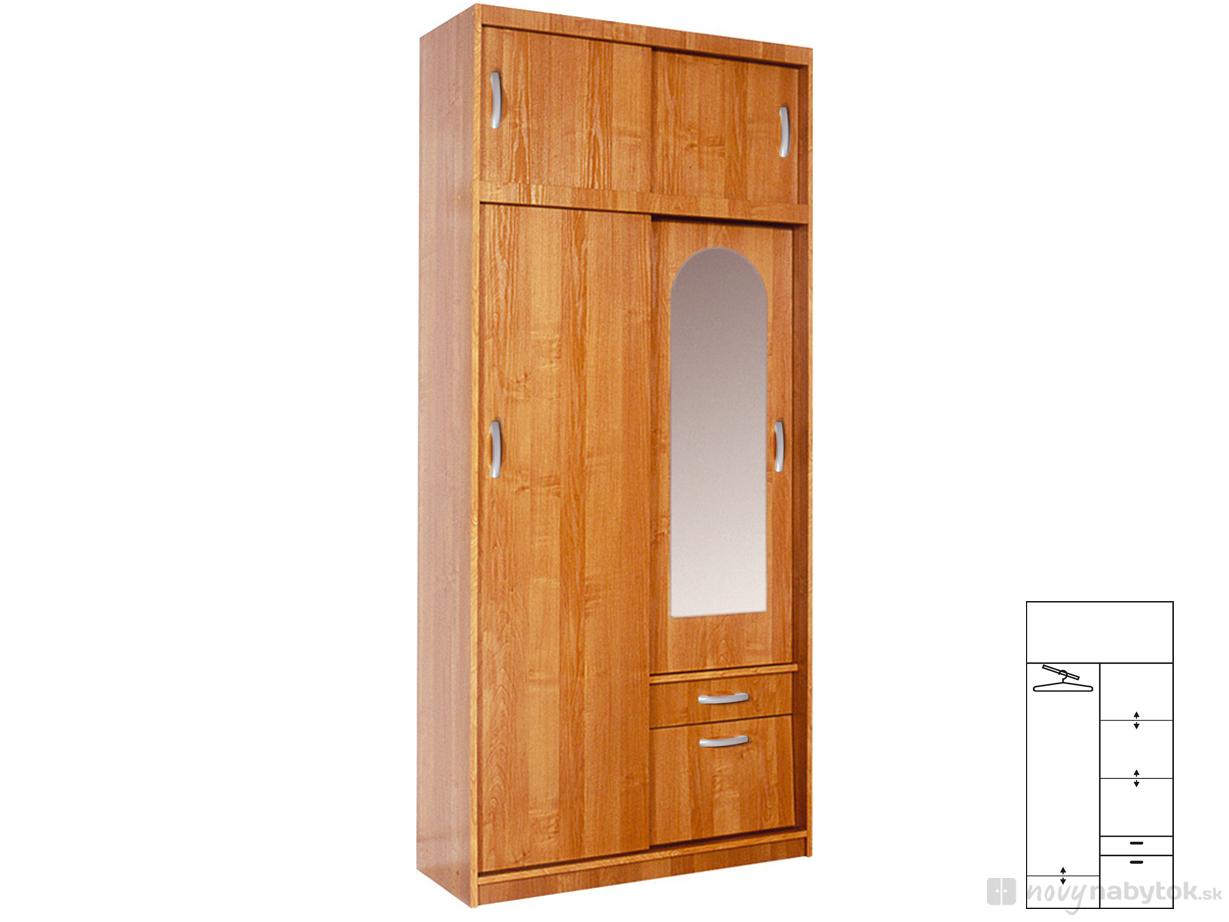 Šatní skříň - WIP - Aleksander 1 (se zrcadlem)