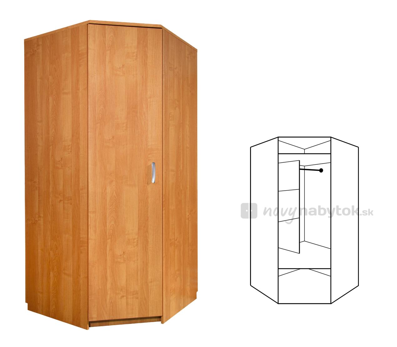 Rohová šatní skříň - WIP