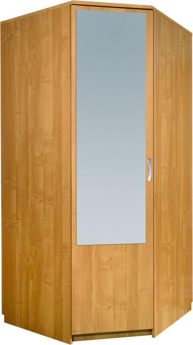 Rohová šatní skříň - WIP (se zrcadlem)