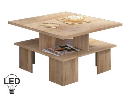 Konferenční stolek - WIP - Supra 1 (sonoma světlá)