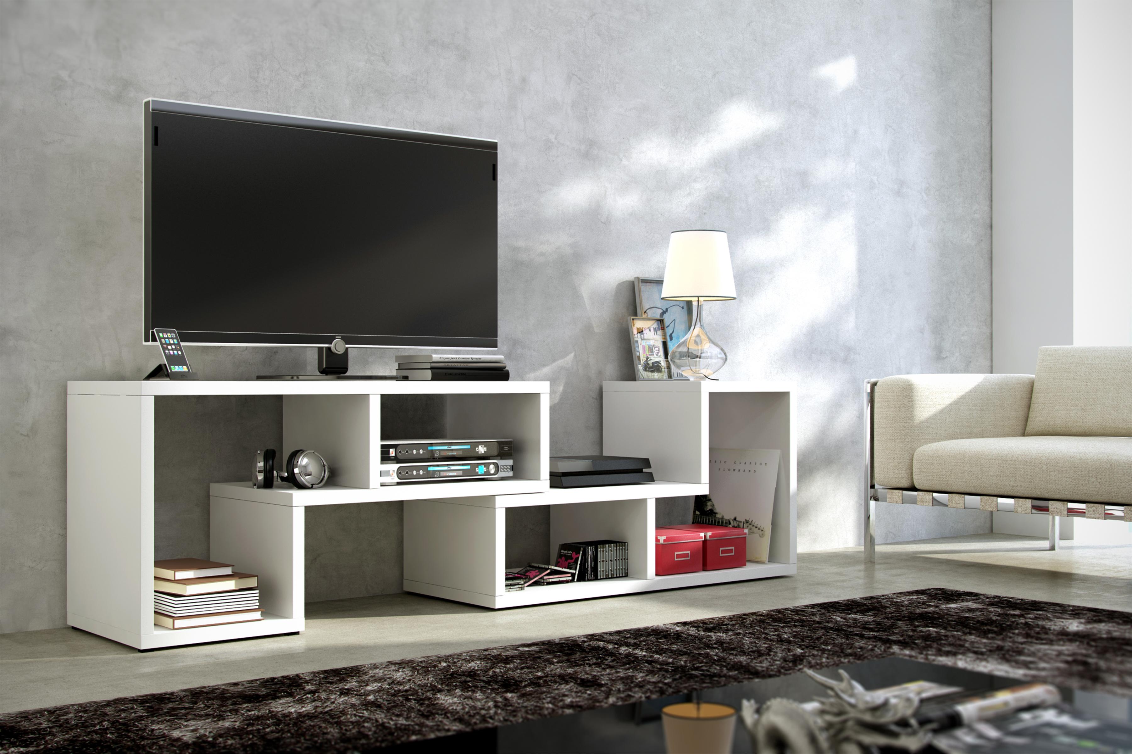 TV stolek - WIP - Top bílá