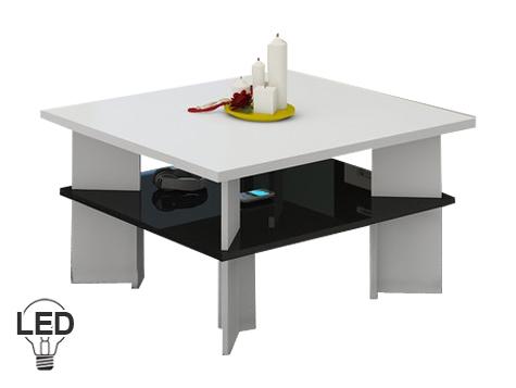 Konferenční stolek - WIP - Vectra 1 (bílá + lesk černý)