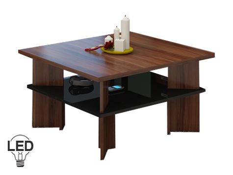 Konferenční stolek - WIP - Vectra 1 (švestka + lesk černý)