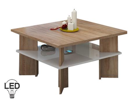 Konferenční stolek - WIP - Vectra 1 (sonoma světlá + lesk bílý)