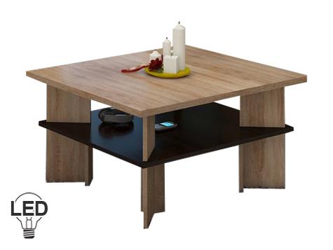 Konferenční stolek - WIP - Vectra 1 (sonoma světlá + tmavá)