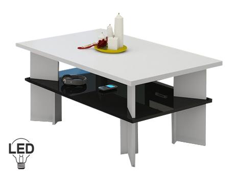 Konferenční stolek - WIP - Vectra 2 (bílá + lesk černý)