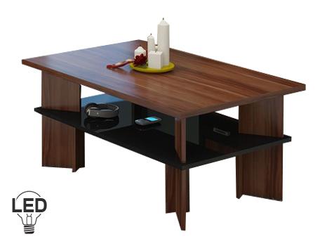 Konferenční stolek - WIP - Vectra 2 (švestka + lesk černý)
