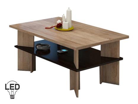 Konferenční stolek - WIP - Vectra 2 (sonoma světlá + tmavá)